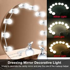 Make up Mirror Lights 10LED Hollywood Kit Bulbs Wall Vanity Light Dimmable Tool