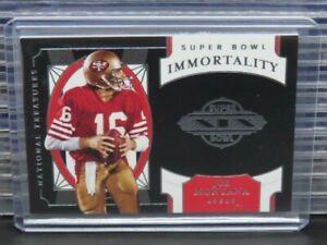 2020 National Treasures Joe Montana Super Bowl XIX Immortality Insert #SB24 R109