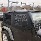 Black Premium Soft Top Upper Skins For 1997-2006 Jeep Wrangler Replacement New