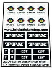Precut Replica Sticker for Lego Set 10170 - TTX Intermodal Double-Stack Car (200