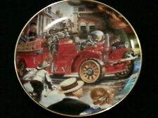 1922 Ahrens-Fox Fire Truck Limited Edition Plate by Franklin Mint Collectables