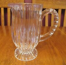 Lovely Mikasa Crystal Park Lane 36 Ounce Pitcher ~ Vertical Wedge Cuts