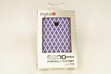 Digital2 Pro-Com Products 8800 mAh Power Bank - Retail Packaging - Lattice Purpl