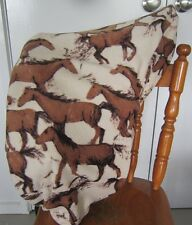 Horse Saddle cover Bay horses print with FREE EMBROIDERY All Australian Made