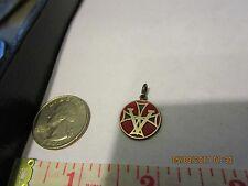 Vintage Malta Travel Shield Enamel & Sterling Silver Charm 226532