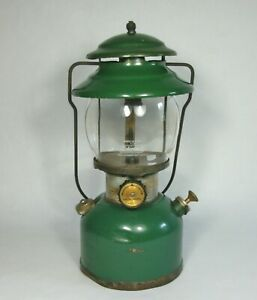 w Vtg 1978 GREEN COLEMAN 201 SINGLE MANTLE LANTERN Gas Pressure Camp Light