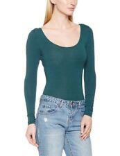 Maglie e camicie da donna body manica lunghi misto cotone