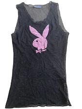 Super Rare Vintage Mesh Original Playboy Bunny Top Vest S