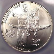 1995-D Olympics Gymnastics Dollar $1 - Certified ICG MS70 - Rare Top Grade!