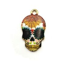 4, 20 or 50 pcs Colorful Sugar Skull De Los Muertos Charms - US Seller - EN215