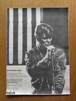 """DAVID BOWIE STAGE LIVE ALBUM  11"""" x 15"""" FULL PAGE MAGAZINE ADVERT UK 1978 POSTER"""
