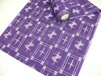 Purple Japanese Summer RO KIMONO Fabric Bolt w/Pttns K356