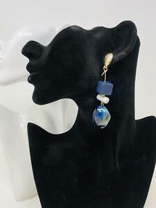 Fashion Women Jewelry Geometric Dangle Drop Acrylic Resin Ear Stud Earrings Gift