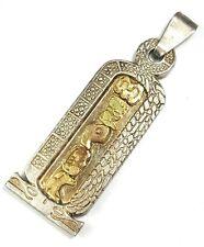 EL TESORO DEL JAGUAR 18k yellow gold Golden Mayan Symbol silver 925 Pendant