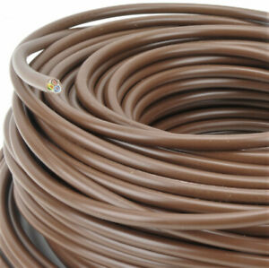 (0,80€/m) H05VV-F 3G1,5 mm²H05VVF 3x1,5 braun PVC Schlauchleitung Stromkabel