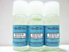 Bath Body Works White Barn RENEW REFRESH Home Fragrance Oil, NEW x 3