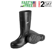 Rubber Kneed Boots Agriculture safe Black Pvc 15-In Mens Size 13 waterproof