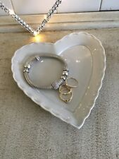 small heart shape dish grey  H16cm W16cm approx   food- trinkets vintage style