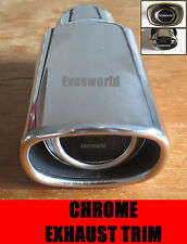 CHROME EXHAUST TAILPIPE TRIM TIP END MUFFLER FINISHER AUDI A4 AVANT ESTATE