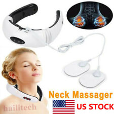 Electric Tens Unit Pulse Neck Massager Magnetic Pulse Therapy Vertebra Relax Usa