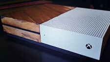 Microsoft Xbox One S 1TB Console w/ Custom Real Vintage Wood CIB NEW Controller