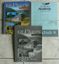 ABeka gr. 8/8th Literature OF PLACES text/reader & test/quiz key 3E  A Beka 1999