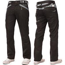 Enzo Mens Straight Leg Jeans Regular Fit Black Denim Pants Big Tall All Waists