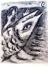 Marc Chagall offset lithograph Bible  paris maeght 1960 original  89  2 sided