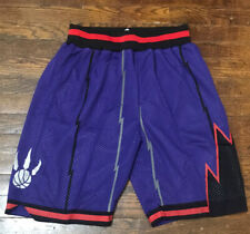 Toronto Raptors Throwback Retro Basketball Shorts NBA Purple Large