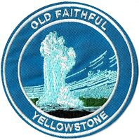 Old Faithful Yellowstone National Park Patch [Iron or Sew On Embroidered] Geyser