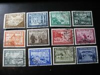 THIRD REICH Mi. #702-713 scarce used stamp set! CV $48.00