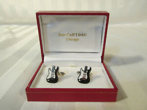 JUST CUFF LINKS! ELECTRIC GUITAR Wedding Gift Graduation Birthday Father CHICAGO