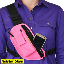 Radio Holster Chest Pack - Right - Pink - Enclosed - Two Ants Trap Jaw CT200SRPK