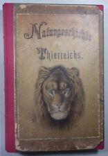 SCHUBERT: NATURGESCHICHTE DES TIERREICHS IN DREI TEILEN 1874, 88 Farbtafeln