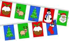 Christmas Multi Picture Celebration -  8 metre long, 24 small flags bunting