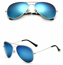 Gafas de sol de hombre azul plata