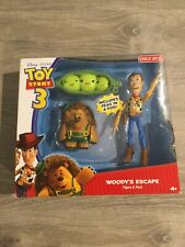 DISNEY TOY STORY 3 WOODY'S ESCAPE 2 PACK WOODY,MR.PRICKLEPANTS+PEAS IN A POD