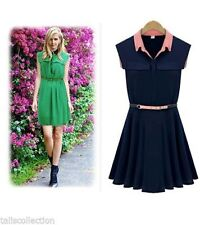 Work Short Sleeve Shirt Dresses for Women