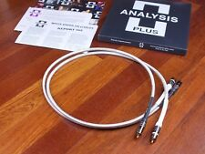 Analysis Plus Silver Oval-In interconnects RCA 1,0 metre BRAND NEW