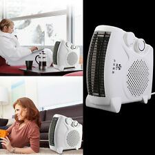 200W-500W Portable Room Floor Upright or Flat Electric Fan Heater Hot & Cold IB
