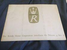 1965 BMC Austin Princess 4 Liter R Color Original Brochure  Prospekt