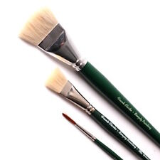 "Frank Clarke Watercolour 3 Brush Set 1.1/2"" 3/4"" Goat hair and a Number 3 Rigger"