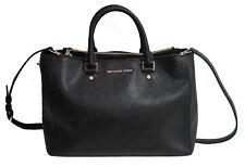 Michael Kors Bag Black Saffiano Leather Shoulder Tote Cross Body Sutton Handbag
