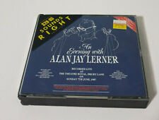 ALAN JAY LERNER CD AN EVENING WITH RECORDED LIVE THE THEATRE ROYAL 1987
