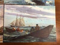 Vintage Gordon Grant Prints Series of 6 Marine Water Colors State Mutual Life LS