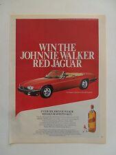1988 Print Ad Johnnie Walker Red Label Whiskey ~ XJ-S Jaguar Convertible Car