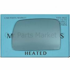 Left side Blue Wing door mirror glass for BMW x5 e53 99-06 heated
