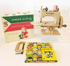 SINGER SEWHANDY #20 Child's Mini SEWING MACHINE Box SIMANCO CLAMP Needle MANUAL