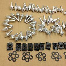 Universal Spike Bolt MC Sportbike For Kawasaki Ninja EX250 ZX14 ZX7 ZX9R Silver