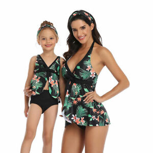 Conservative Swimsuit Matching Family Outfits Bikini Mommy Clothes Kids Swimwear